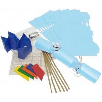 Deluxe Christmas Cracker Kit 35cm - Pale Blue - 6 Pack
