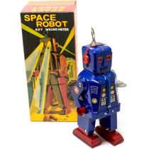 Blue Sparking eye space robot