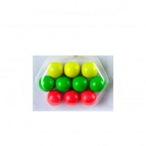 10 wooden Pétanque/Boules jacks 3 assorted colours