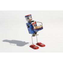 Dancing Robot Drummer tin toy