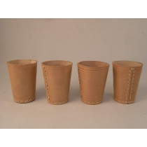 Set of 4 Leather dice cups