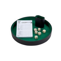 Dice Tray with dice shaker & 6 dice