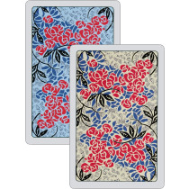 Roses twin playing cards