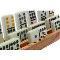 Deluxe hardwood Domino tile racks / holders