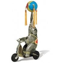 Elephant on Trike with ball