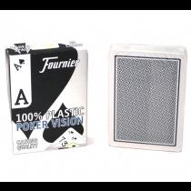 Fournier Poker Vision 100% plastic poker cards.