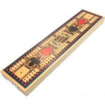Replica Victorian Globe series cribbage board