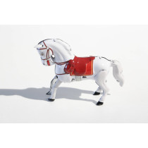 Jumping Horse White
