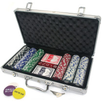 Poker set in aluminium case with 300 poker chips
