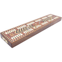 Inlaid reproduction antique cribbage board