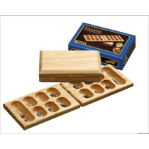 Wooden Folding travel games Kalaha / Mancala