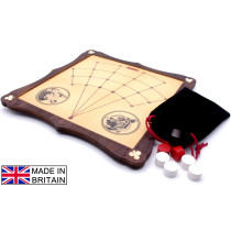 Lambs and Tigers traditional wooden board game