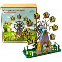 Clockwork Musical Tin Ferris Wheel tin Toy / Retro / Clockwork