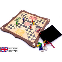 Pachisi traditional wooden board game