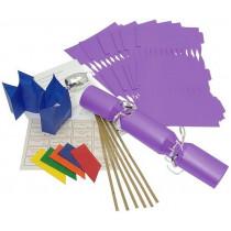 Deluxe Christmas Cracker Kit  35cm - Purple - 10 Pack