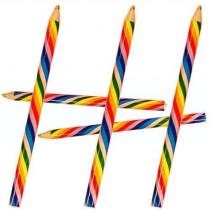 Giant Rainbow Pencils - 6 Pack