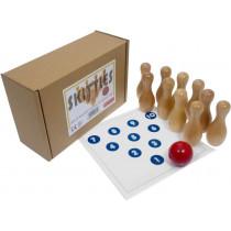 Wooden skittles / ten-pin bowling game