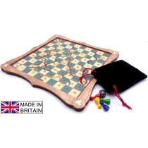Snakes & Ladders traditional wooden board game