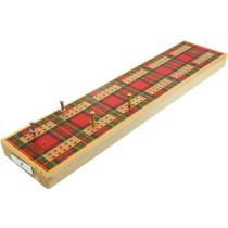 Tartan design wooden cribbage board