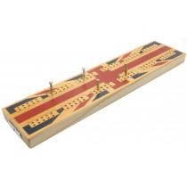 Union Jack wooden cribbage board