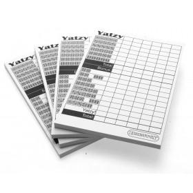 Yatzy score pads x4  (Yahtzee compatible)
