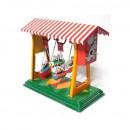 Swing boats - Tin Toy / retro / clockwork fairground toy