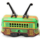 Small Tram car - Tin Toy / retro / clockwork vehicle toy