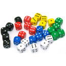 14mm Coloured Dice X5