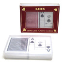 large index twin deck 100% Plastic Poker cards
