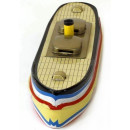 Canal barge tin toy candle boat.