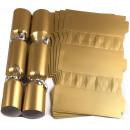 Large Wedding DIY Cracker Kit  35cm - Gold - 10 Pack