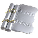 Large Wedding DIY Cracker Kit 35cm - Silver - 6 Pack