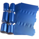 Large Wedding DIY Cracker Kit 35cm - Blue - 6 Pack