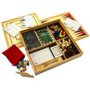 Deluxe large 15 family games compendium dice games, board games, card games & more