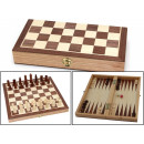 Foldable Chess/Backgammon Wooden Game