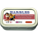 Marble shooting games in a tin