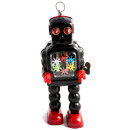 High Wheel Robot Clockwork tin toy