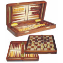 Deluxe Chess and backgammon magnetic inlaid palis wood 30cm