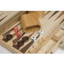 "Wooden backgammon set 15"""