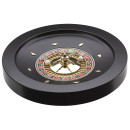 Deluxe wooden roulette wheel black furnished 36cm