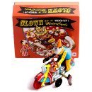 stunt clown on motorcycle